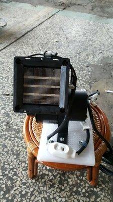 [多元化風扇風鼓]天冷必備手提式PTC陶瓷熱風機 電暖器 手工組裝 可上下調整吹角 體積小 600w 風程遠~室內外