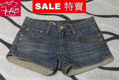 BIG TRAIN 牛仔短褲 牛仔褲 - 女款-L號【JK嚴選】