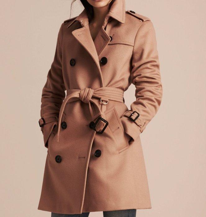 英國 Burberry KENSINGTON 經典版 羊毛大衣
