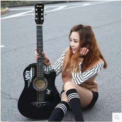 【不二藝術】38寸民謠木吉他初學者男女學生練習樂器送大禮包新手入門男女樂器吉他BYYS90