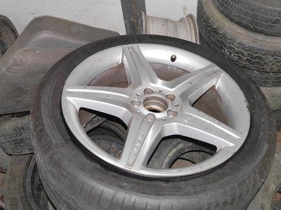 原廠AMG鋁圈 19吋 前後配 W221(含馬牌輪胎)無刮傷只使用一萬公里