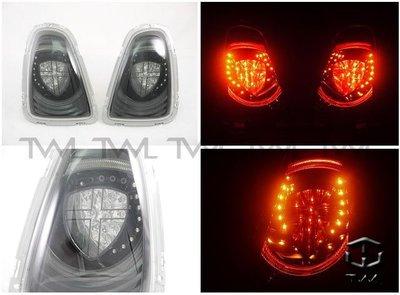 《※台灣之光※》全新BMW寶馬MINI COOPER R56 11 13 12年改英國旗LED光柱光條黑底尾燈組