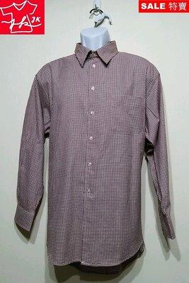 美國 CLUB ROOM 格紋襯衫 長袖 大尺碼 紳士品格款-男款-紅-16半【JK嚴選】鬼怪