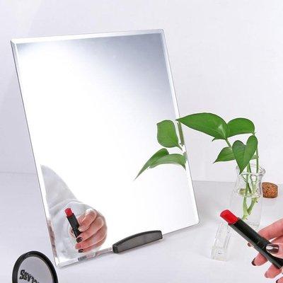 化妝鏡 超大號鏡子臺式梳妝鏡便攜化妝鏡桌面掛墻鏡子公主鏡子   全館免運
