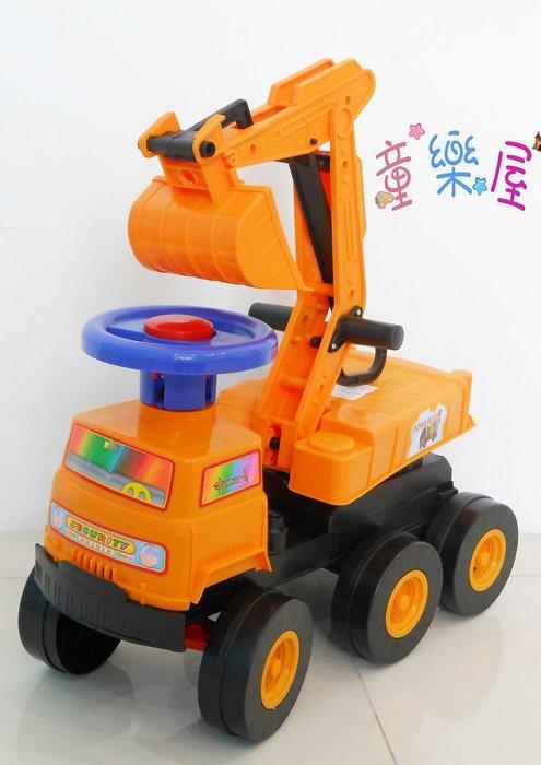 高雄玩具~兒童挖土機~坐式騎乘兒童怪手-滑步車-學步車-兒童怪手-兒童生日禮物~高雄可自取