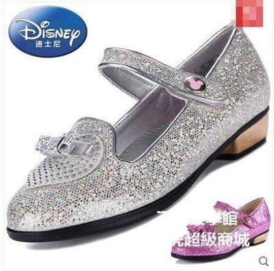 【格倫雅】^迪士尼童鞋春兒童皮鞋公主鞋女童平跟女鞋單鞋29191[g-l-y99
