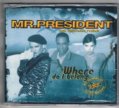 [鑫隆音樂]西洋單曲-MR.PRESIDENT / where do l belong {3984214552} 全新