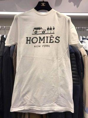 【RECOVER 名品二手】REASON HOMIES 字母白色圓領短袖T-shirt . 998-355