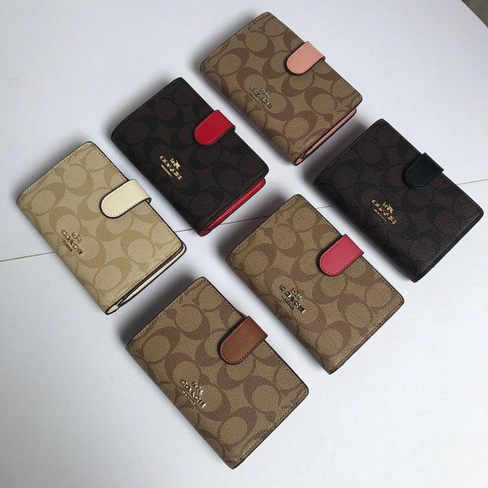 【Woodbury Outlet Coach 旗艦館】COACH 23553 女士短款錢包 短皮夾 美國代購100%正品