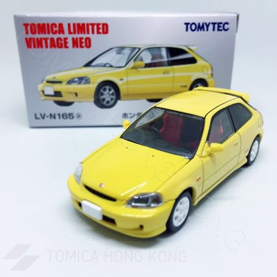 Takara Tomy Tomica LV-N165 Honda Civic Type R (Yellow) Tomica Limited