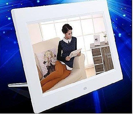 10寸多功能內置鋰電數碼 相框 高清數位相框 MP3/電子相冊/LCD液晶屏/時間日曆鬧鈴/遙控