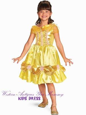 妍媽咪兒童禮服出租~迪士尼美女與野獸貝兒公主兒童造型~萬聖節走秀聖誕節表演~