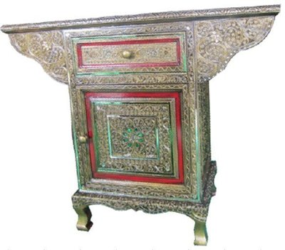 INPHIC-東南亞 家居飾品 泰式飯店 會所 木雕 小傢俱 單扇宮廷櫃