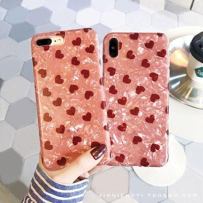 【3C殿堂】iPhone7 iPhone8 Plus i7 i8 防摔 愛心 軟殼 可愛 掛繩 掛脖 貝殼 殼 套 女