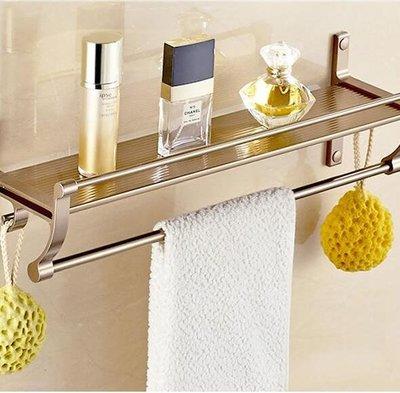 鋁浴室置物架壁掛歐式衛生間單層毛巾架洗...