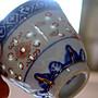 80年景德鎮出口一級品描金邊青花透光米孔小杯24個特優1600元