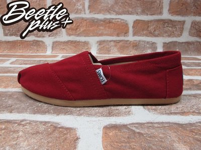 BEETLE TOMS CLASSICS RED CANVAS WOMEN 女鞋 布面 紅 平底 帆布鞋 W9 26CM 台北市