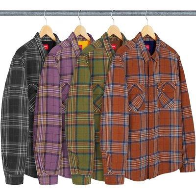 【美國鞋校】 預購 Supreme FW18 Pile Lined Plaid Flannel Shirt 4色