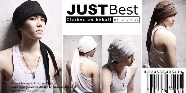 JB 專業衣廠~【SJHI】HIP HOP 素面嘻哈頭巾帽/可調式設計/獨特潮流款/超商取貨付款