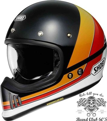 ♛大鬍子俱樂部♛ SHOEI® EX Zero Equation TC-10 復古 山車 越野 哈雷 全罩 安全帽