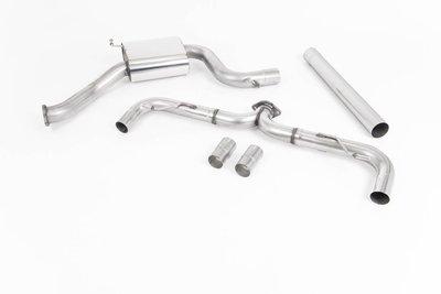 英國 Milltek 牛奶管 中尾段 賽道 髮絲鈦色 排氣管 VW 福斯 Golf GTi 7代 七代 改款 13+ 專用