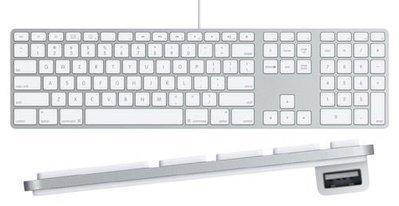 歐洲版 蘋果APPLE A1243/ MB110LLA USB有線鍵盤 數字小鍵盤 薄 好按 簡易包裝, 近全新 台北市