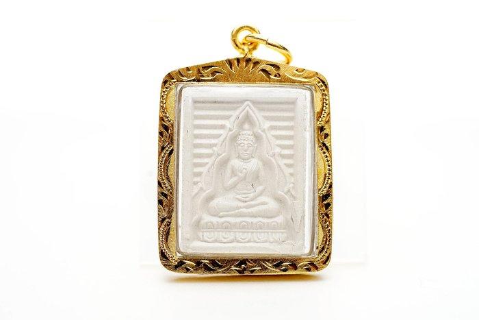 「還願佛牌」泰國 佛牌 白欖佛 第七期 粉牌 廟盒 含殼 升運 改命 貴人