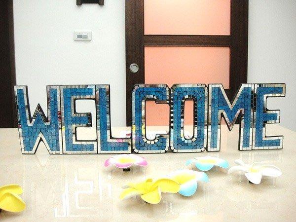 Y【永晴峇里島】巴里島風鏡面馬賽克 WELCOME歡迎門牌,民宿、飯店都好用-歡迎門牌1