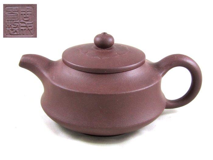 [[ 茶壺 ]] 紫砂 菊瓣壺(No.55) 新品 喜歡就帶走,含證書