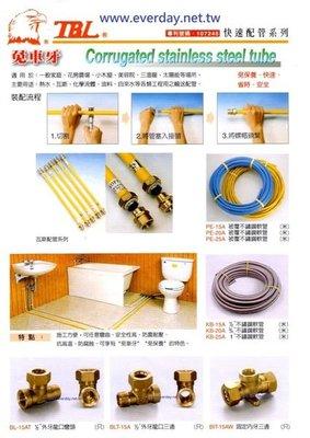 (永展) 白鐵保溫管 被覆管 軟管 快速管 批覆管 1/2 3/4 免車牙 熱水管 瓦斯管 螺紋管 DIY