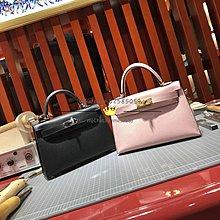 Hermes 二代 mini Kelly 19cm epsom皮 3Q粉色 金扣