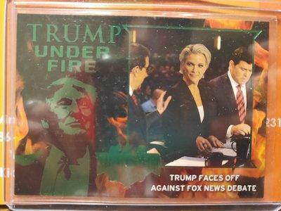 (記得小舖)Trump UNDER FIRE系列 川普 VS FOX NEWS 1張普卡 落選大出清 值得收藏台灣現貨