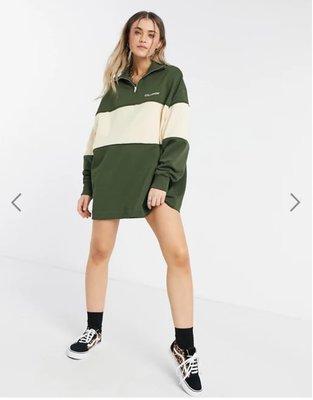 (嫻嫻屋) 英國ASOS-COLLUSION色塊拼接運動衫洋裝 SK20
