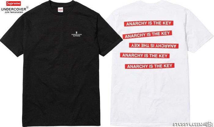 【超搶手】全新正品2015 聯名 Supreme x Undercover Anarchy Tee 白色 灰色 L XL