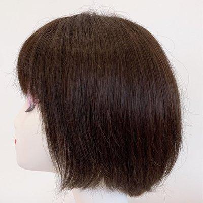 整頂假髮真髮絲短假髮-手織蓬鬆齊瀏海直髮女假髮2色73vr22[獨家進口][米蘭精品]