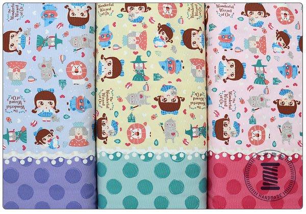 ✿小布物曲✿童話系列-1綠野仙蹤(厚) 窄幅110CM 日本進口100%純棉布料質感優 共3色 單價/尺