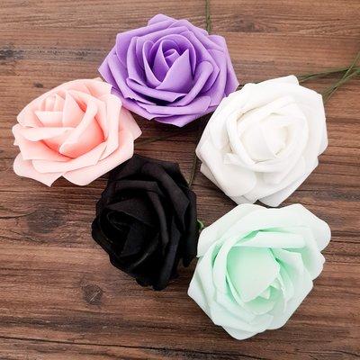 仿真 玫瑰花 5色可選 拍照道具 攝影道具 婚禮佈置 婚紗攝影 清新 IG 文青 居家裝飾 《GrayShop格蕾小舖》