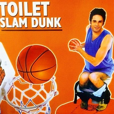 HomoHomo【廁所打籃球】Toilet Game 打籃球NBA 馬桶籃球 整人整蠱整古玩具 廁所遊戲 浴室地毯