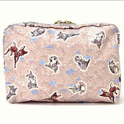 現貨 LeSportsac x Disney Bambi 小鹿小兔 化妝包夾層包收納包小包7121 降落傘防水