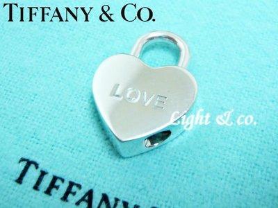 【Light & co.】專櫃真品已送洗 TIFFANY & CO 925純銀 刻字 項鍊 墬子 鑰匙圈 手鍊 愛心 LOVE  鎖頭