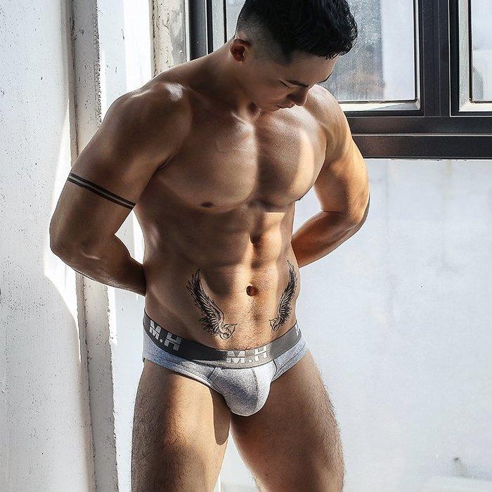 【OTOKO Men's Boutique】M.H:透氣運動三角內褲/灰色(台灣獨家代理)