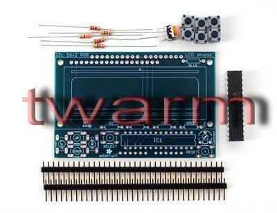 《德源科技》r)Adafruit I2C Controlled+Keypad Shield Kit for16x2LCD