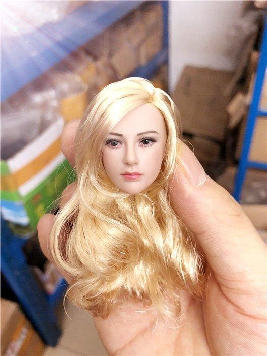JAMES ROOM#1/6 兵人美女頭雕女武神金髮適合包膠素體人偶模型TBL PHICEN