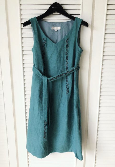 JILL STUART 松石綠 珠繡腰帶背心裙洋裝👗