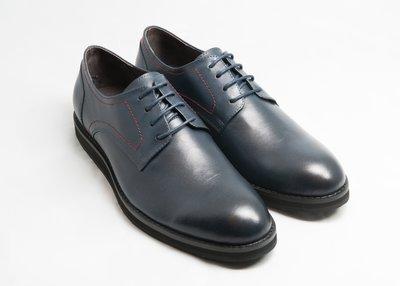 超值系列素面休閒德比鞋:手工上色小牛皮...