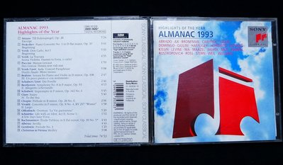 Highlights of the Year-ALMANAC 1993【旺福拍賣】