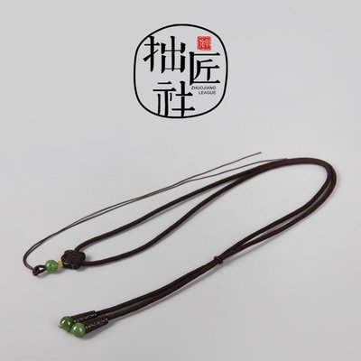 原創設計純手編制項鏈吊墜掛繩 松石蜜蠟南紅天珠吊墜高檔掛繩