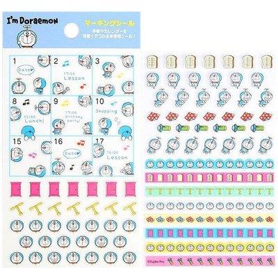 Doraemon 哆啦A夢 小叮噹 2019跨年日誌周邊小物 日誌用迷你透明標記貼紙 日本製 406236