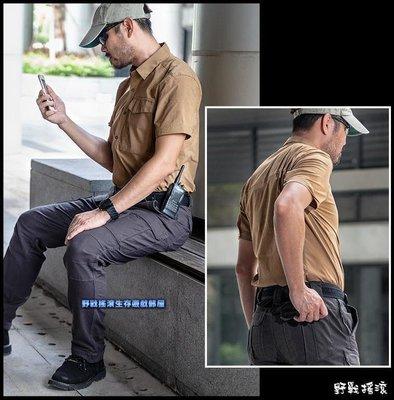 【野戰搖滾-生存遊戲】SECTOR SEVEN 特工速乾短袖襯衫【沙漠棕色】 迷彩服勤務服工作服第七區短袖上衣戰術襯衫