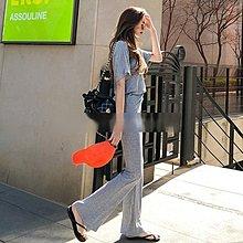 休閒短袖褲裝 韓系 舒適感休閒上衣+高腰休閒微喇褲套裝 艾爾莎 【TGK7622】